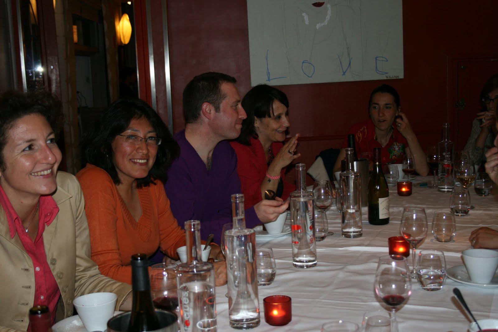 de gauche à droite : Florence Pisano, Carmen Zelada, Laurent Duruet, Stéphanie Hublin-Besson, Astrid Gerville-Réache