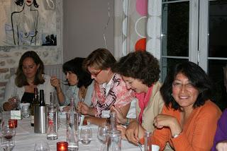 de gauche à droite : Vanessa de Broucker, Olga Guitton, Fabienne D'Illiers, Florence Pisano, Carmen Zelada