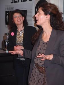 Quelques consignes, top départ avec Mélanie Simonetto (à gauche) et Cécile Louyot