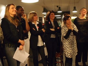 Un auditoire conquis d'avance ! De g. à dr. : Aline Mériau, Marie-Laure Demuynck, Virginie Avinain, Mélanie Simonetto, Stéphanie Hublin-Besson et Véronique Marchand.