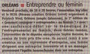 La Republique du Centre, 25 mai 2013