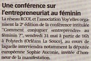 La Tribune d'Orléans, 30 mai 2013