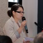"""Camille Coulon, conseillère à la CCI du Loiret, anime la 1ère table ronde """"Le territoire et l'entrepreneuriat au féminin"""""""